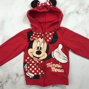 Toddler Girl Minnie Hooded Sweatshirt